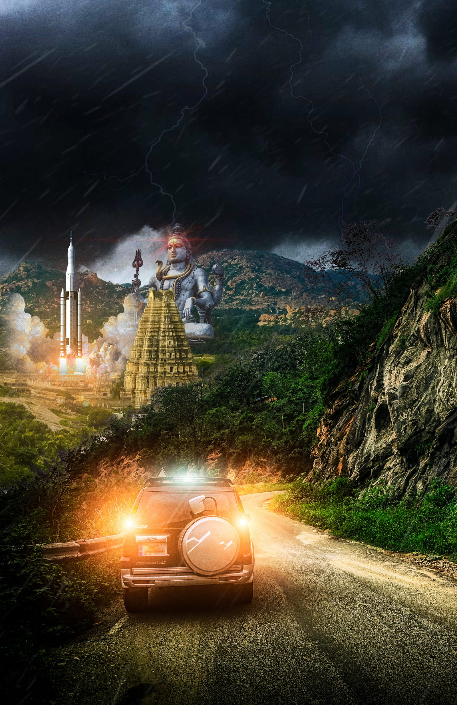 Jungle Spaceport in India Concept Art for Chapter 2 of Sicarionauts